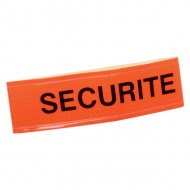 BRASSARD REFLEXITE ORANGE SIGLE SECURITE