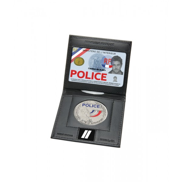 Gk la boutique porte carte mini 2 volets emplacement - Porte carte police nationale avec grade ...